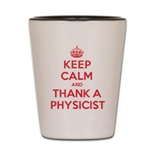 K C Thank Physicist Shot Glass