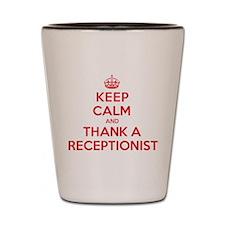 K C Thank Receptionist Shot Glass