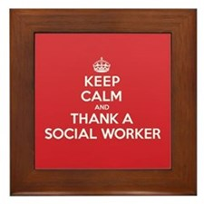 K C Thank Social Worker Framed Tile