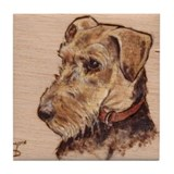 The Airedale Shop Loucee Tile Coaster