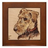The Airedale Shop  Loucee Framed Tile