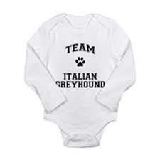 Team Italian Greyhound Long Sleeve Infant Bodysuit