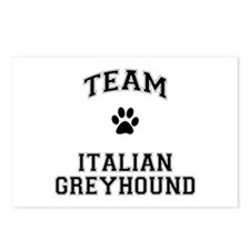 Team Italian Greyhound Postcards (Package of 8)