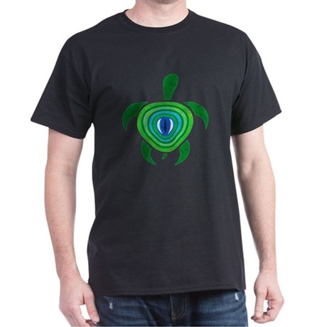 Green Eye Turtle Dark T-Shirt