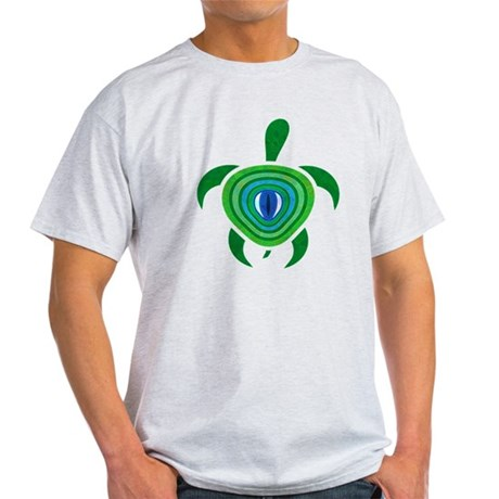 Green Eye Turtle Light T-Shirt