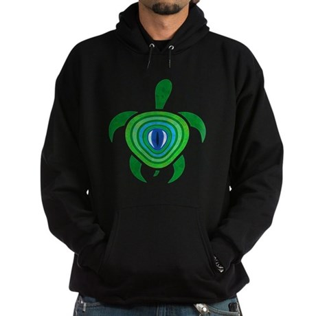 Green Eye Turtle Hoodie (dark)