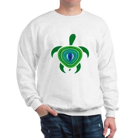 Green Eye Turtle Sweatshirt