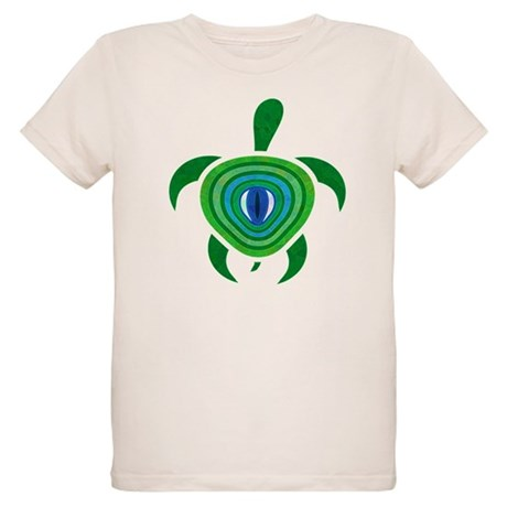 Green Eye Turtle Organic Kids T-Shirt