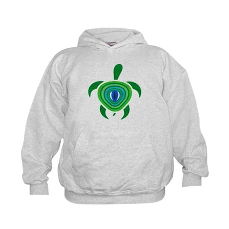 Green Eye Turtle Kids Hoodie