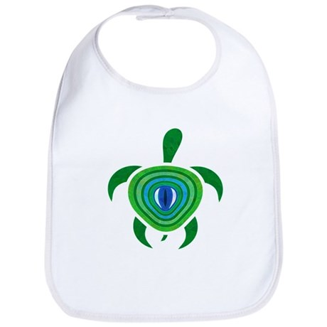 Green Eye Turtle Bib