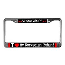 Norwegian Buhund Gifts License Plate Frame