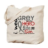 Hero in Life 2 Brain Cancer Tote Bag