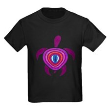 Purple Eye Turtle Kids Dark T-Shirt