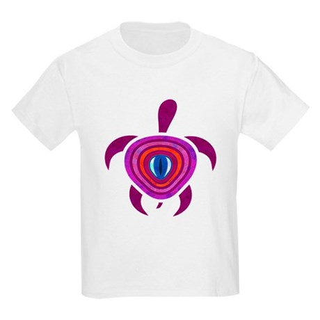 Purple Eye Turtle Kids Light T-Shirt