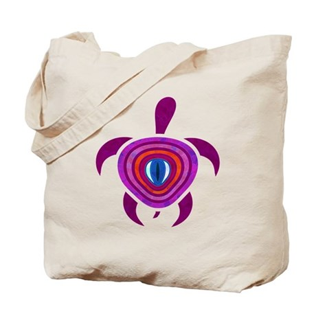 Purple Eye Turtle Tote Bag