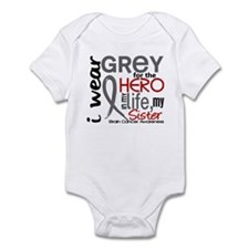Hero in Life 2 Brain Cancer Infant Bodysuit