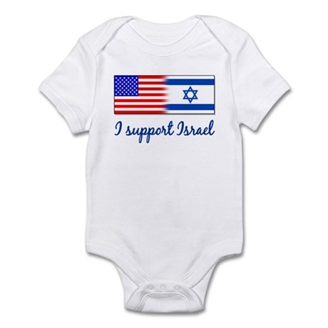 I Support Israel Infant Creeper