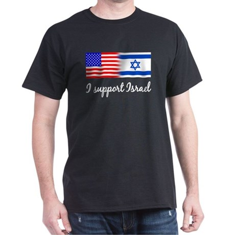 I Support Israel Black T-Shirt