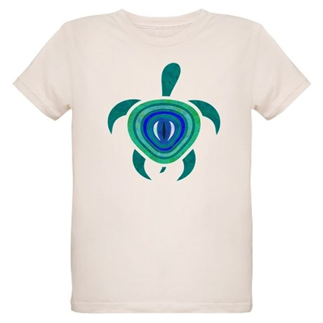 Blue Eye Turtle Organic Kids T-Shirt