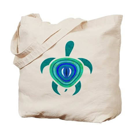 Blue Eye Turtle Tote Bag