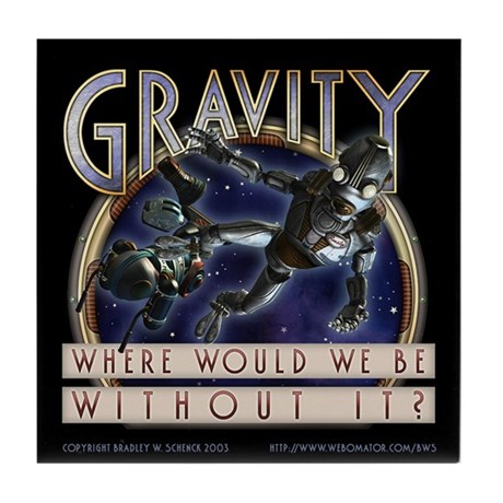 """Gravity"" Tile Coaster"