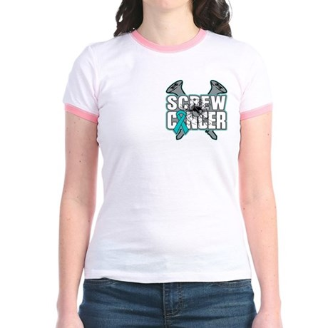 Screw Peritoneal Cancer Jr. Ringer T-Shirt