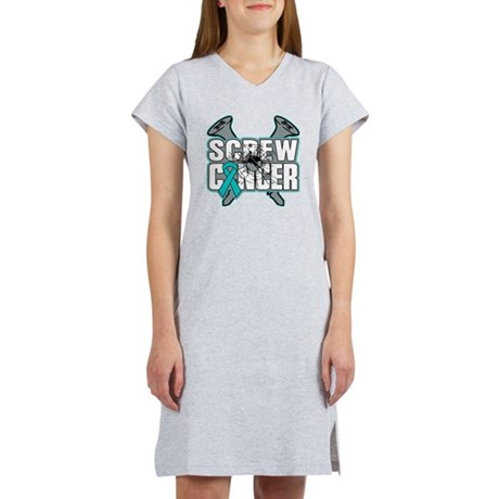 Screw Peritoneal Cancer Women's Nightshirt