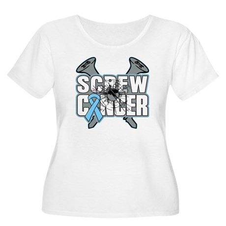 Screw Prostate Cancer Women's Plus Size Scoop Neck