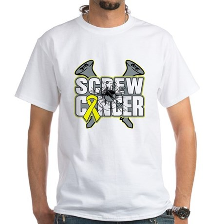 Screw Sarcoma Cancer White T-Shirt