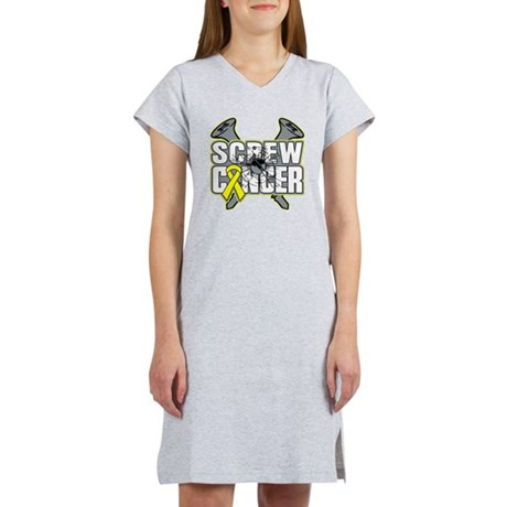 Screw Sarcoma Cancer Women's Nightshirt