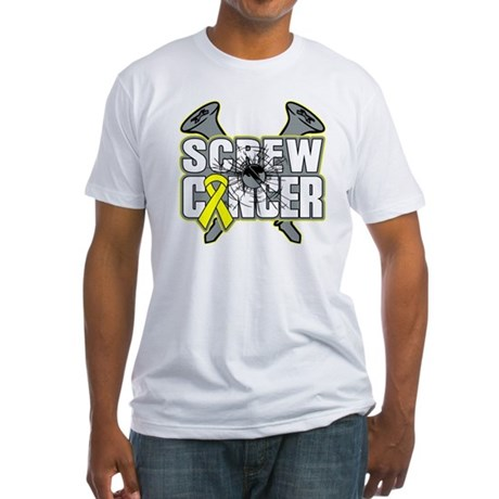 Screw Sarcoma Cancer Fitted T-Shirt
