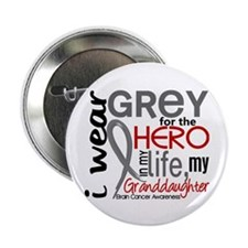 "Hero in Life 2 Brain Cancer 2.25"" Button (100 pack"