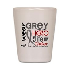 Hero in Life 2 Brain Cancer Shot Glass