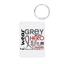 Hero in Life 2 Brain Cancer Keychains