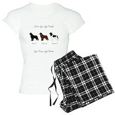 3 Newfs - Black, Brown, Landseer Pajamas