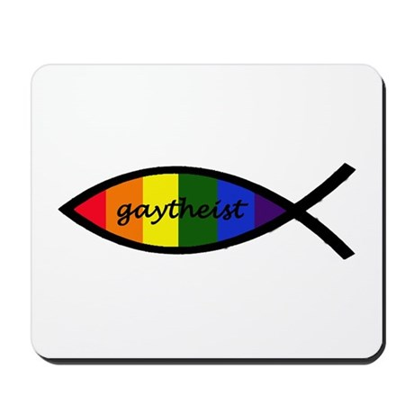 Gaytheist Sticker Mousepad