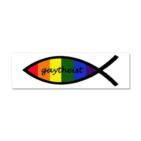 Gaytheist Sticker Car Magnet 10 x 3