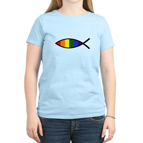 Gay Colors Christian Fish Women's Light T-Shirt