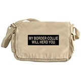 Border Collie Madness Messenger Bag
