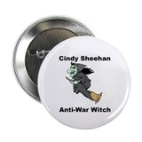 Cindy Sheehan Anti-war Witch Button