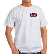 """British Flag"" Ash Grey T-Shirt"