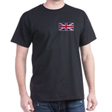 """British Flag"" Black T-Shirt"