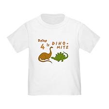 blktbirthdaydinosaursfourdinomite T-Shirt