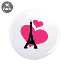 "Eiffel Tower Paris 3.5"" Button (10 pack)"