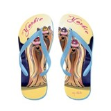 Unique Yorkie Flip Flops