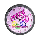 Groovy Bubble Peace Wall Clock