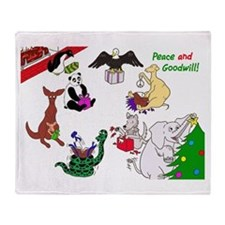 Christmas Card For The World Throw Blanket