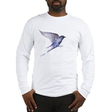 Purple Martin in flight lite T Long Sleeve T-Shirt