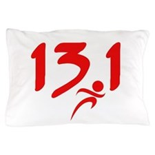 Red 13.1 half-marathon Pillow Case