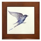 Purple Martin GIFT Framed Tile